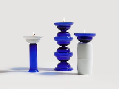 Glass candle holder DNA