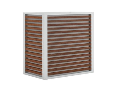 High rectangular teak planter DNA TEAK | High planter