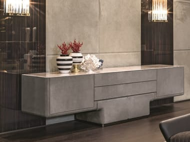 Leather sideboard with drawers DO | Sideboard