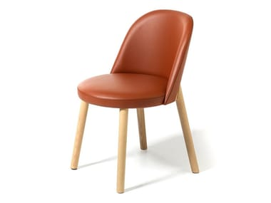 Upholstered leather chair DOC | Leather chair