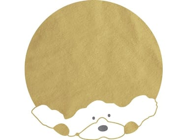 Round cotton kids rug DOG