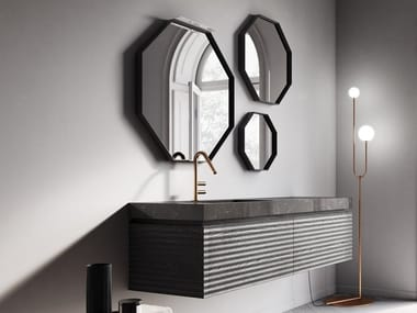 Wall-mounted vanity unit with mirror DOLCEVITA BY AQUA COMP. 05