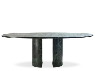 Oval marble table DOLMEN