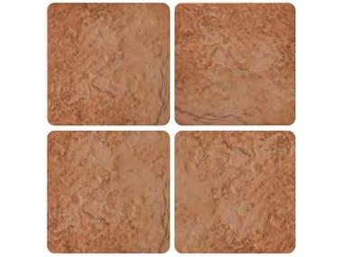 Pavimento per esterni in gres smaltato effetto pietra DOLMEN   Rosso grip