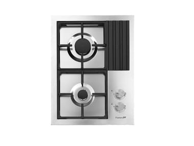 Gas flush-mount stainless steel hob DOMINO2F S4000 Q4  INOX