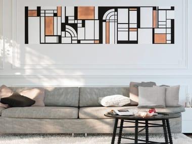 Screenprinted non-woven paper wallpaper DOMINO ART DECO