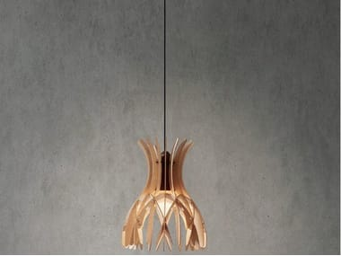 LED wooden pendant lamp DOMITA S/20
