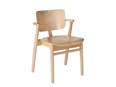 Wooden chair with armrests DOMUS | Chair