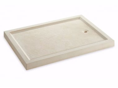 Reconstructed stone shower tray DOMUS | Shower tray