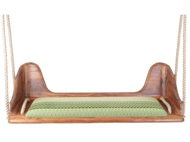3 Seater teak garden hanging chair DONUS | Teak garden hanging chair