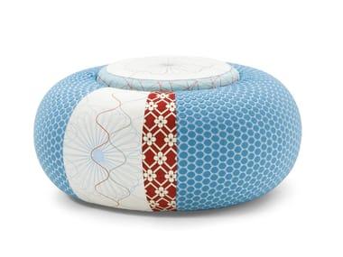 Round fabric pouf DONUT