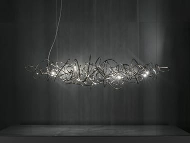 LED nickel pendant lamp DOODLE HORIZONTAL