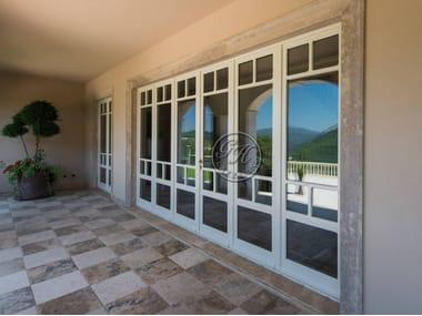 Porta-finestra a battente in legno e vetro Porta 12