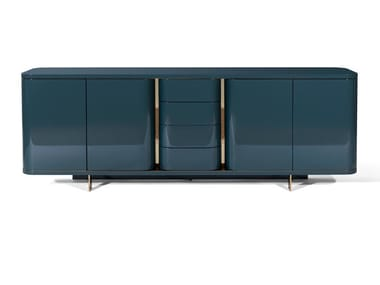 Lacquered wooden sideboard with doors DONEGAL