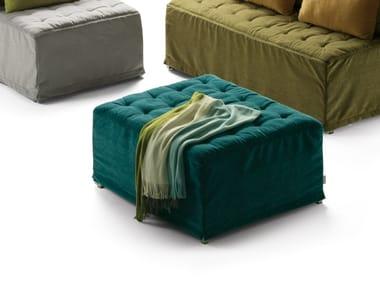 Pouf letto capitonné in tessuto DORSEY | Pouf letto