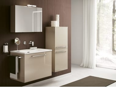 Wall-mounted laundry room cabinet with sink DOUBLE 04