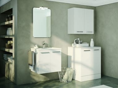 Laundry room cabinet with sink for washing machine DOUBLE 07
