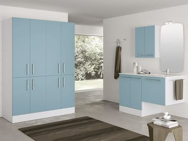 Laundry room cabinet with sink for washing machine DOUBLE 13