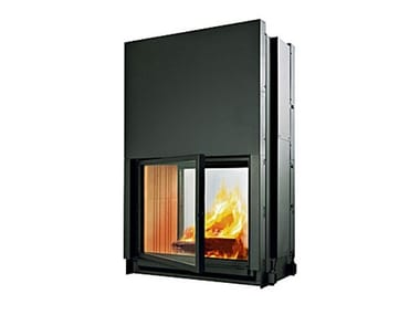 Double-sided wood-burning built-in fireplace DOUBLE