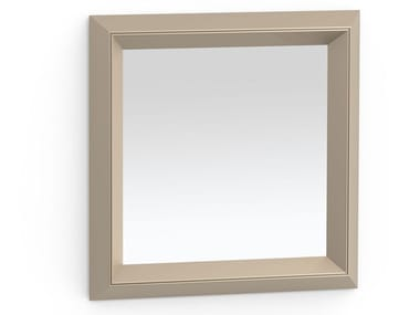 Square framed metal mirror DOUBLE | Square mirror