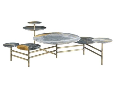 Marble high side table DOYLE