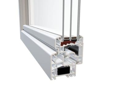 Finestra in PVC con triplo vetro DQG 70 EVO PLUS