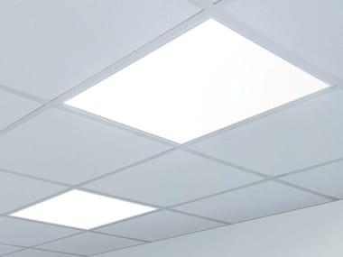 Lampada per controsoffitti a LED in polistirene DRACMA