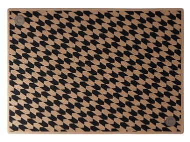 Rectangular wool and silk rug DRAGONFLY | Rug