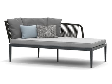 Upholstered aluminium Garden daybed DREAM 2.0 | Garden daybed