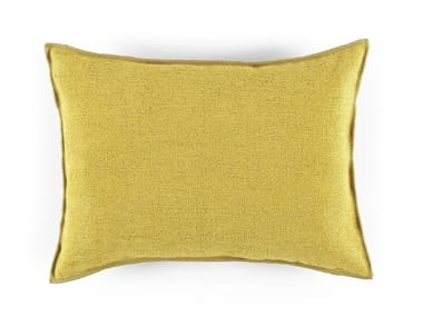 Solid-color rectangular chenille cushion DREAMS