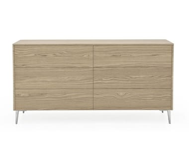 Wood veneer chest of drawers BOSTON | Chest of drawers