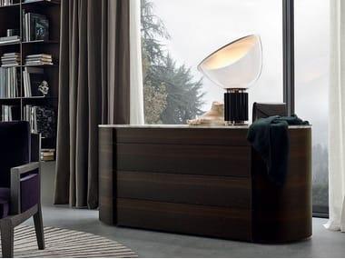 Wood veneer chest of drawers ONDA | Chest of drawers