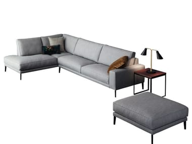 Corner sofa with removable cover DRIVER | Corner sofa
