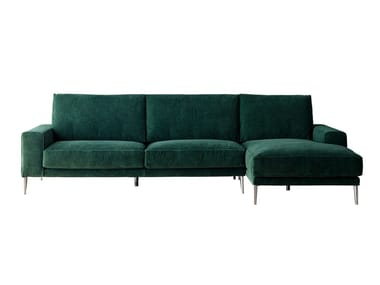 Sofa with chaise longue with removable cover DRIVER | Sofa