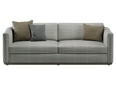 3 seater fabric sofa with removable cover DROMO CLUB