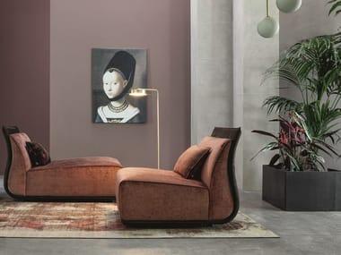 Fabric fireside chair DROP | Armchair