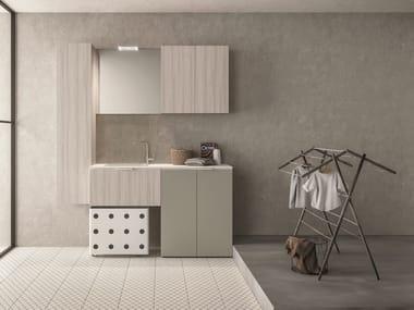 Mueble para lavandería composable DROP - COMPOSITION D14
