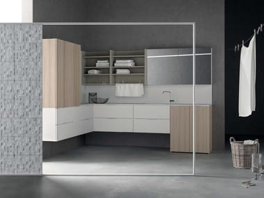 Sectional laundry room cabinet DROP - COMPOSITION D02