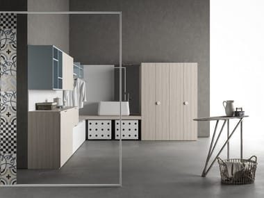 Sectional laundry room cabinet DROP - COMPOSITION D03