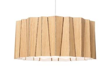Lampada a sospensione in legno impiallacciato DRUM | Lampada a sospensione in legno impiallacciato