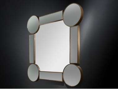 Wall-mounted framed hall mirror DRUMMOND | Square mirror