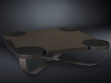 Low square oak coffee table DRUMMOND | Coffee table