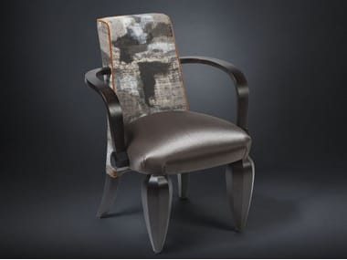 Fabric easy chair with armrests DRUMMOND | Easy chair