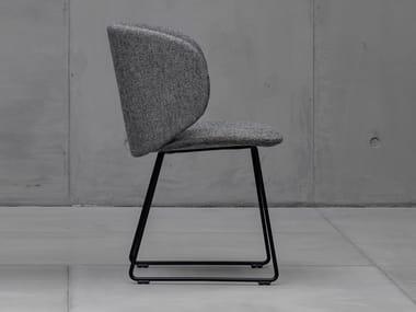 Sled base upholstered fabric chair DUA | Sled base chair