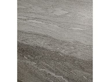 Pavimento/rivestimento in gres porcellanato effetto pietra DUALMOOD DARK GREY