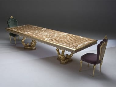 Rectangular wooden living room table DUCALE