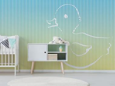 Fire retardant Digital printing wallpaper DUCK