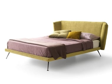 Fabric double bed with upholstered headboard DUKE | Bed