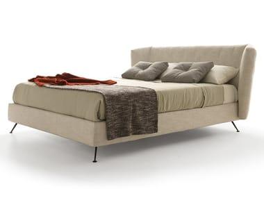 Upholstered fabric storage bed DUKE | Storage bed