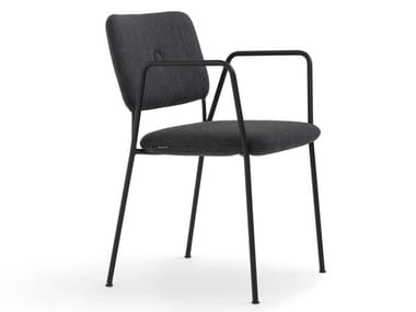 Stackable fabric chair with armrests DUNDRA 4 | Stackable chair